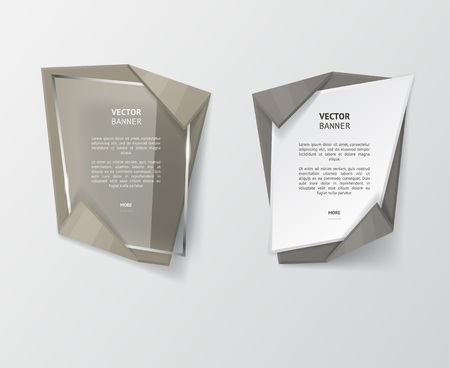 origami: Vector infographic origami banners set.