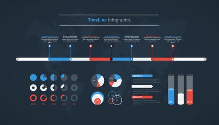 Timeline vector infographic for business design