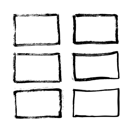 Conjunto de líneas de pincel. Ilustración vectorial Ilustración de vector