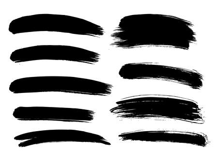 Brush lines set. Vector illustration