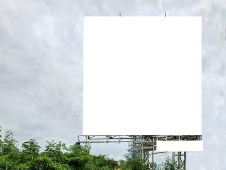 Blank white mock up or billboard banner for advertising