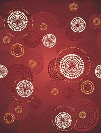 czerwone koło wektora deseń