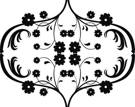filigree floral element Vector