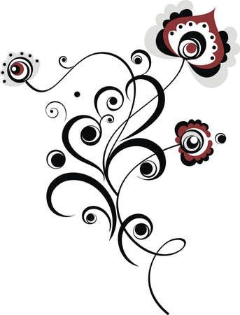 easy floral motive Vector