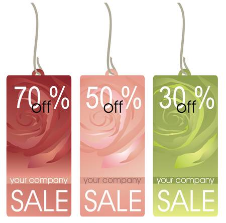 Collection of price labels Vector
