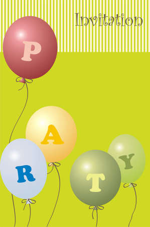 party invitation Stock Vector - 4844701