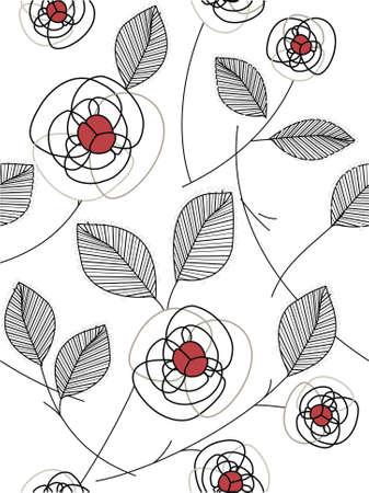 interlock: abstract rose pattern Illustration