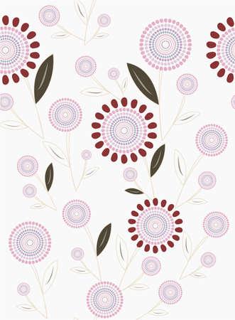 pink closeup floral sample Vector