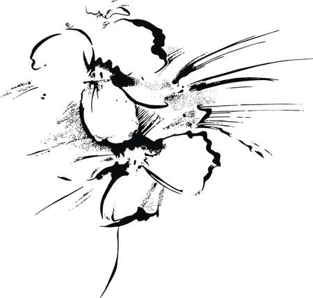 stippled: handmade flower