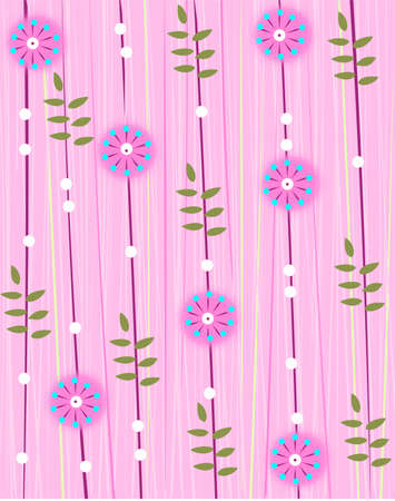 pink floral sample Vector