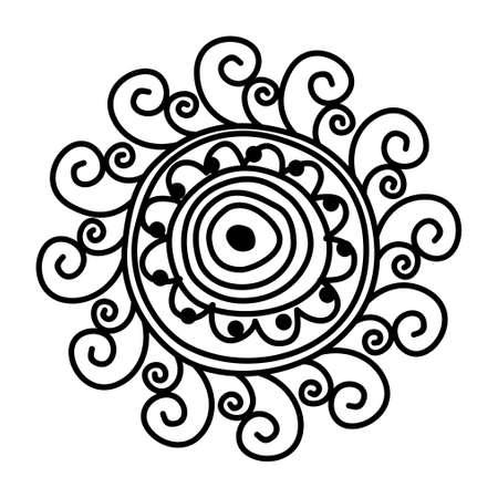 fanny: black and white sun Illustration