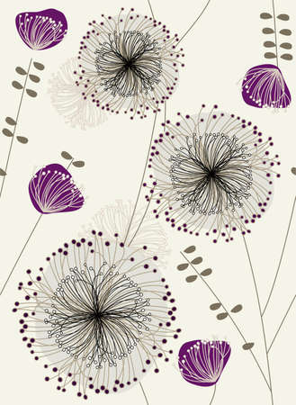 repeat floral pattern Stock Vector - 5828652