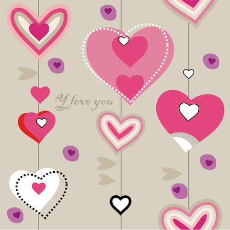 closeup heart pattern Vector