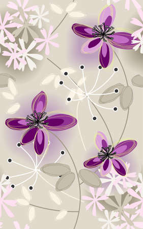 repeat floral pattern Vector