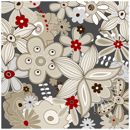 fabric samples: patr�n floral Vectores