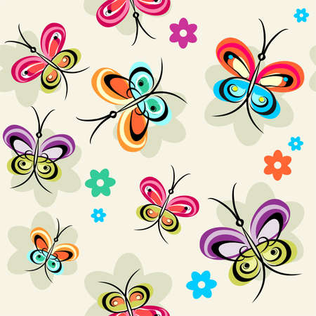 sample with butterflies Vector
