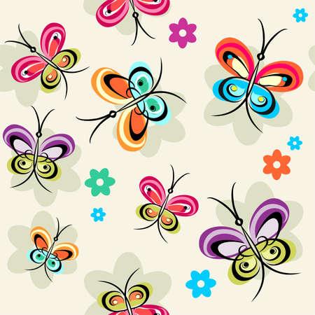 sample with butterflies Stock Vector - 7177830