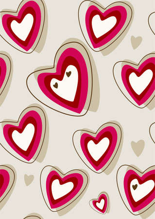 retro heart background Stock Vector - 8561906