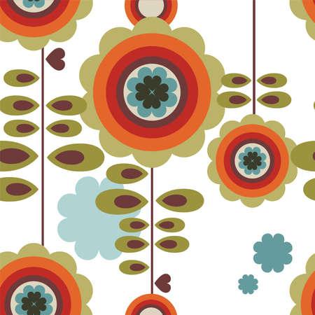 wallpaper: Retro floral background Illustration