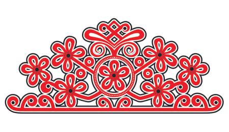 authenticity: Hungarian folk motif Illustration