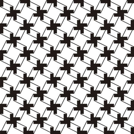 black background abstract: Geometric pattern Illustration