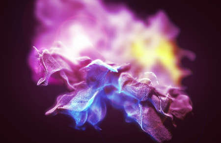 dof: Varicolored dust storm, abstract 3d illustration