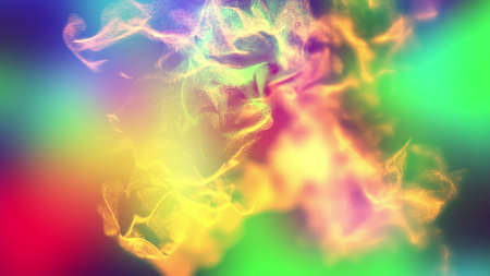 Volumes of abstract smoke, 3d illustration Stock Photo
