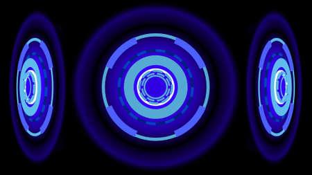 Neon Wheels background, 3d illustration Reklamní fotografie