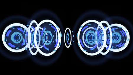 Abstract high-tech wheels, 3d illustration
