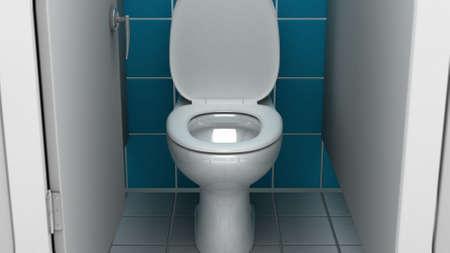 piddle: Public bathroom, 3d illustration