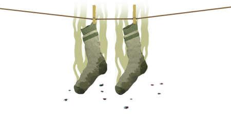 Smelly socks, 3d illustration