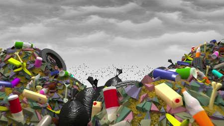 The Great Garbage Dump, 3d illustration