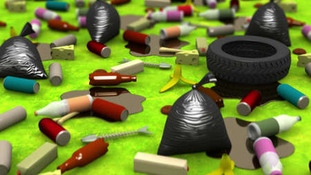 refuse: The Great Garbage Dump, 3d illustration