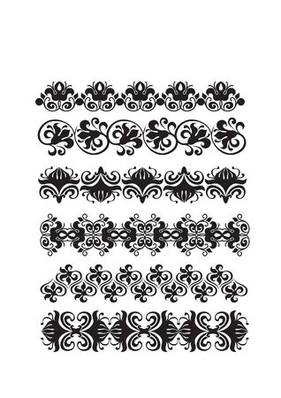 black floral frame border pattern  Stock Photo - 7780330