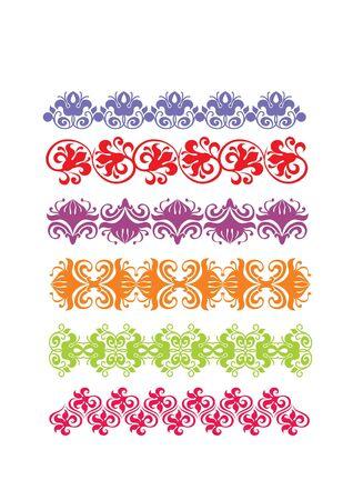 color  floral frame border pattern  Stock Photo