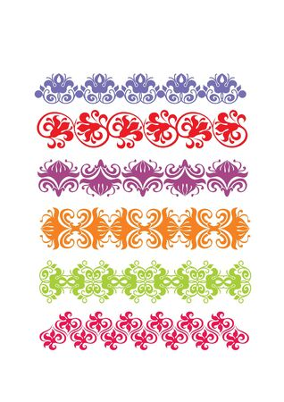 color  floral frame border pattern  Stock Photo
