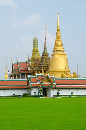 Thai gland palace Wat Prakaew  Stock Photo