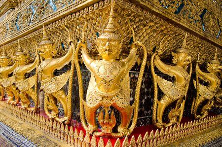 Golden Garuda at Wat Pra Kaew  in Thailand  Stock Photo