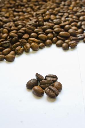 Kaffee Samen auf dem wei�en Hintergrund Lizenzfreie Bilder