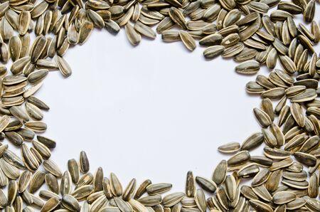 Sonnenblumenkerne mit mit Hintergrund Lizenzfreie Bilder