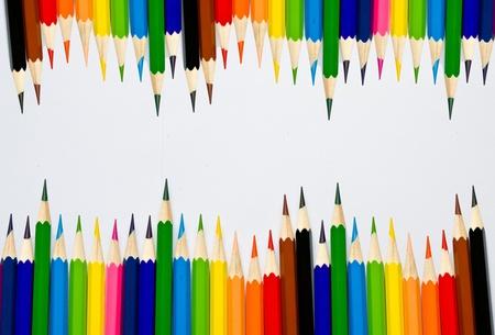 Farbstift auf wei�em Hintergrund Lizenzfreie Bilder