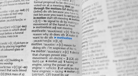 Motivation wording on dictionary