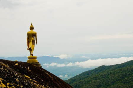 The Buddha on the mountain