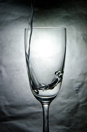 abstractly: The water in the glass