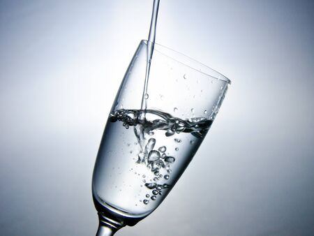 The water in the glass  with bubble