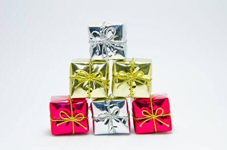 Geschenk-Boxen Dekoration auf wei�em Hintergrund