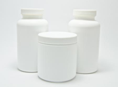 Medizin-Flasche close-up auf wei�em Hintergrund Lizenzfreie Bilder