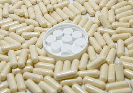 Pillen in der Pillen Hintergrund
