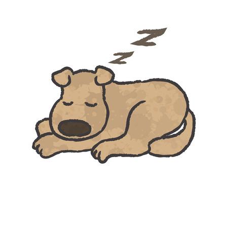 dog sleeping: Sleep dog cartoon - Vector
