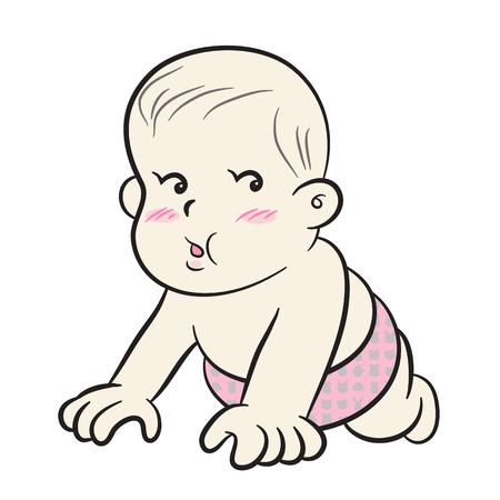 to creep: Baby creep - Vector